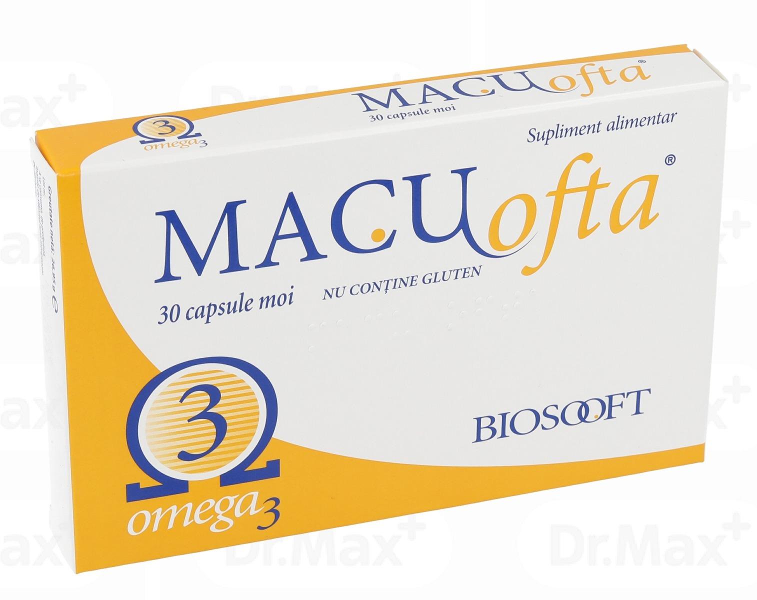 Macuofta, 30 capsule, BioSooft imagine produs 2021