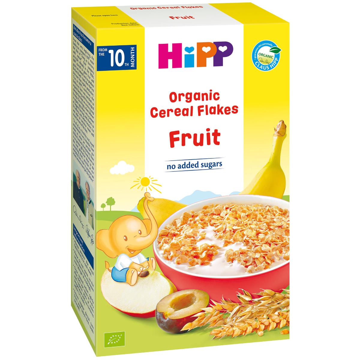 Fulgi de cereale ecologice cu fructe, 200g, Hipp drmax.ro