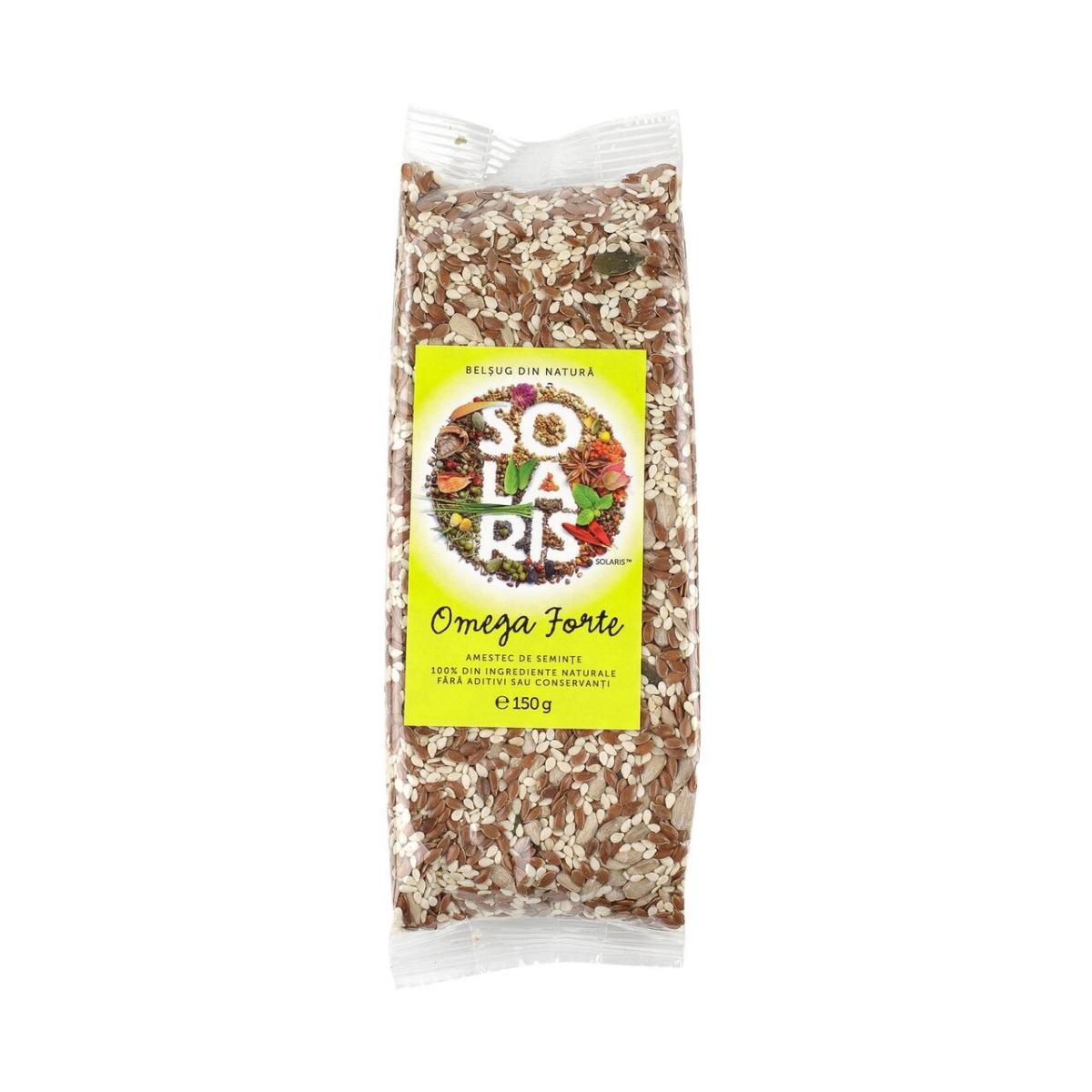 Amestec de seminte Omega Forte, 150g, Solaris drmax.ro