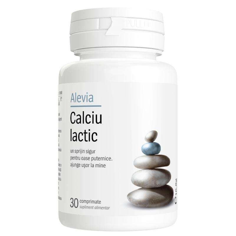 Calciu lactic, 30 comprimate, Alevia drmax.ro