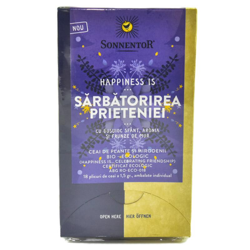 Ceai Bio Happiness Is - Sarbatorirea prieteniei, 18 plicuri, Sonnentor drmax.ro