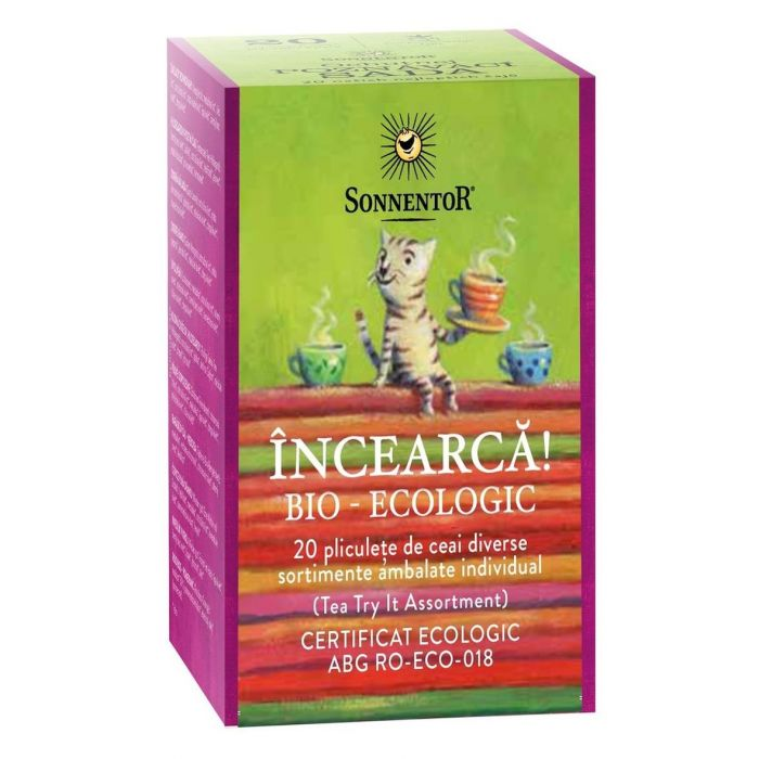 Ceai Bio Incearca!, 20 de plicuri, Sonnentor drmax.ro