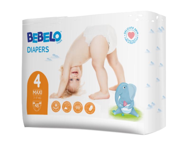 Bebelo Scutece maxi nr. 4, 48 bucati imagine produs 2021
