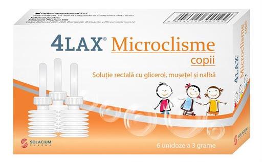 Microclisme pentru copii 4Lax, 6 unidoze, Solacium imagine produs 2021