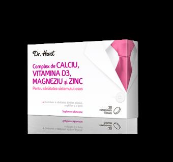Dr.Hart Complex de Calciu Vitamina D3 Magneziu Zinc, 30 comprimate filmate imagine 2021 Dr.Hart