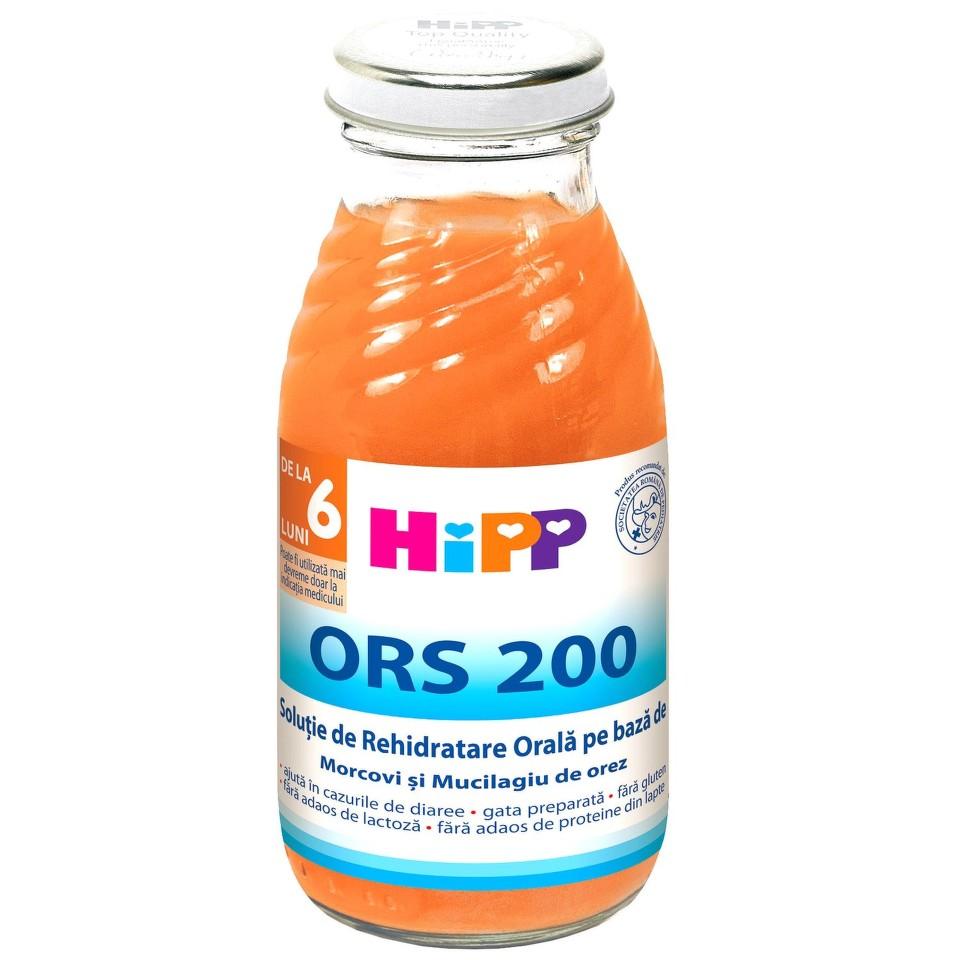 Solutie de rehidratare orala pe baza de morcovi si mucilagiu de orez, incepand de la 6 luni, 200 ml, HiPP drmax.ro