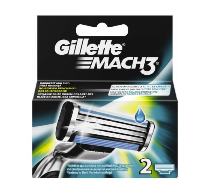 Rezerve aparat de ras Mach3, 2 bucati, Gillette imagine produs 2021