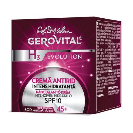 Crema de zi antirid intens hidratanta SPF 10 H3 Evolution, 50ml, Gerovital la preț mic imagine