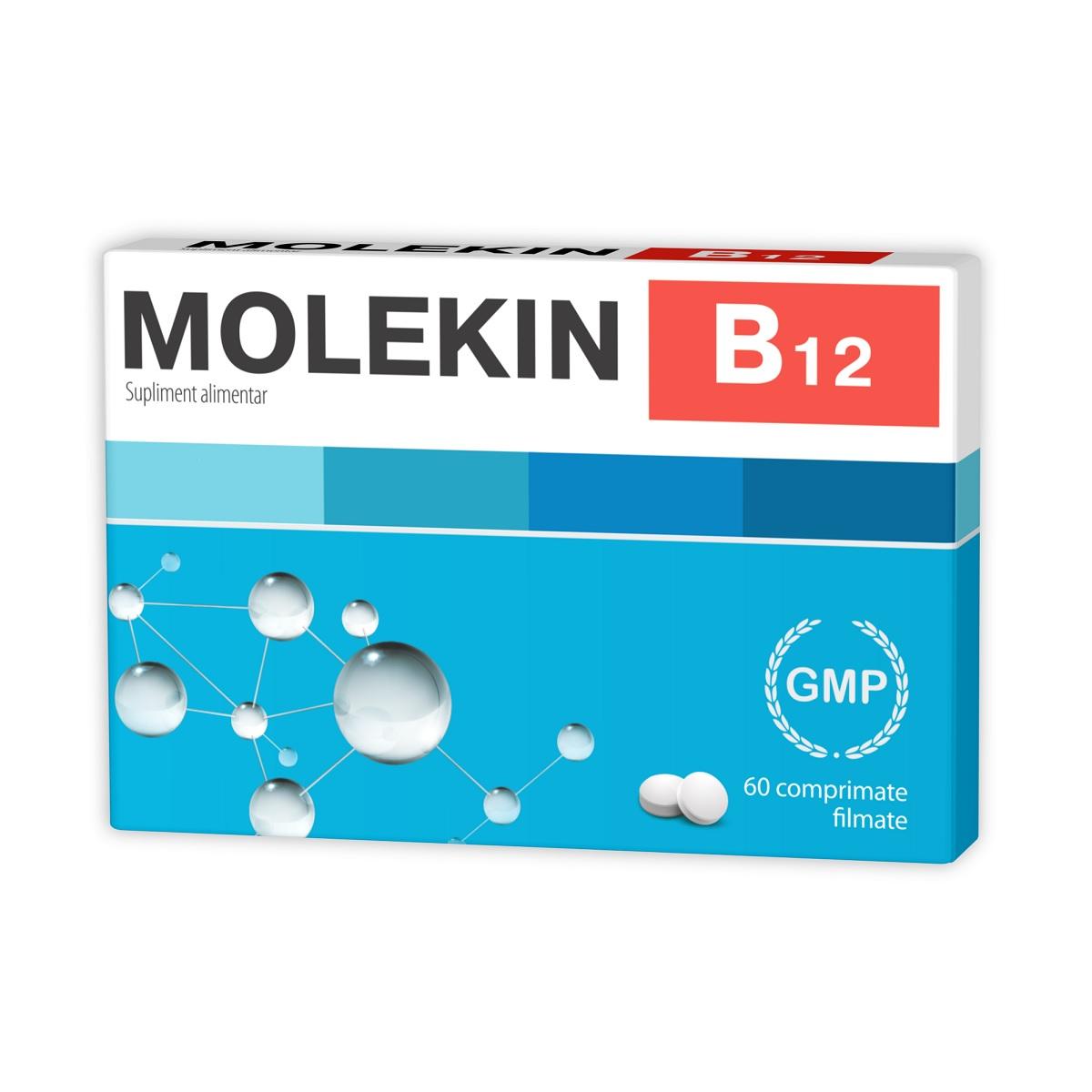 Molekin B12, 60 comprimate filmate, Zdrovit imagine produs 2021