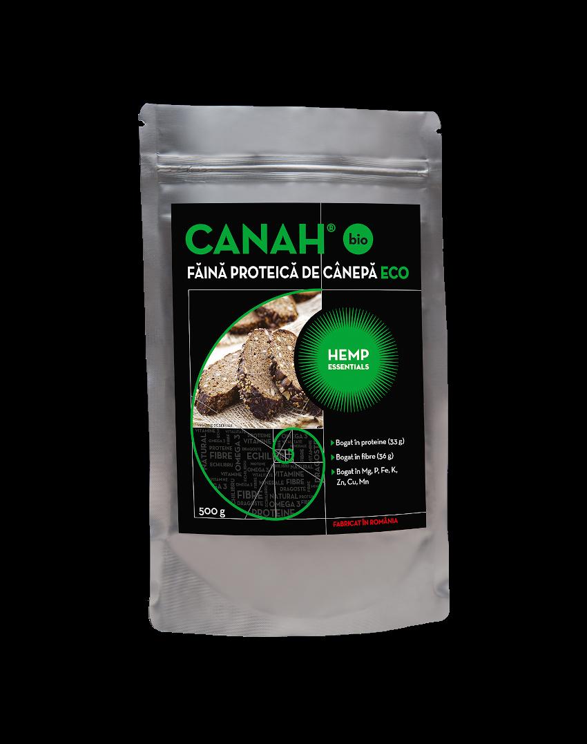 Faina proteica de canepa ECO, 500g, Canah drmax.ro