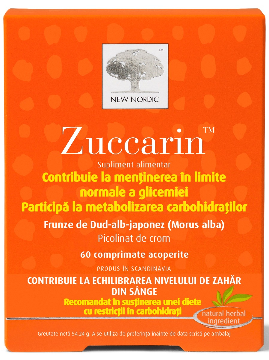 Zuccarin, 60 tablete, New Nordic drmax poza