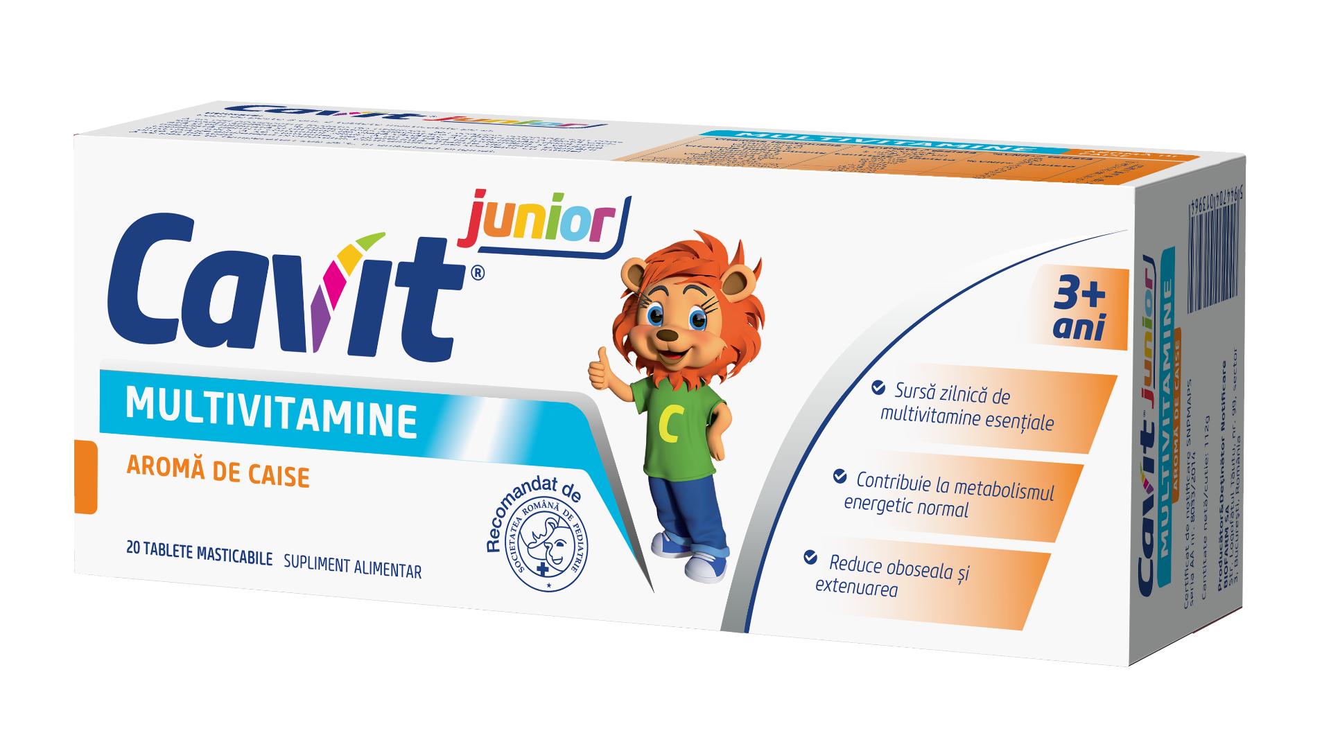 Cavit Junior caise, 20 tablete, Biofarm drmax.ro