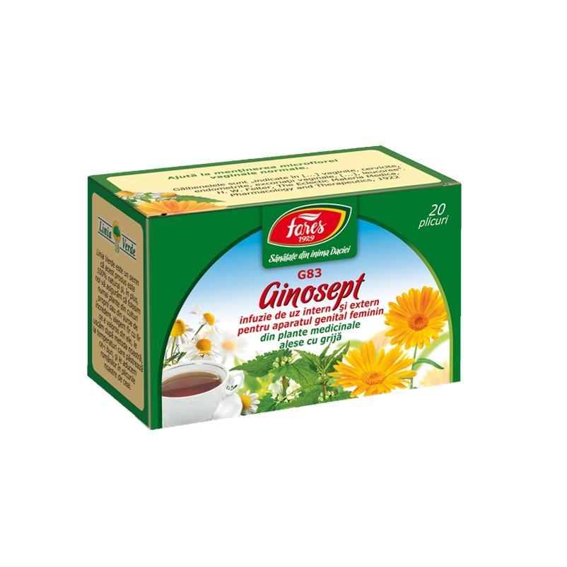Ceai Ginosept, 20 plicuri, Fares drmax.ro