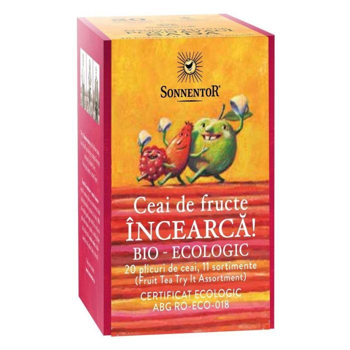 Ceai Bio Incearca! - Ceai fructe, 20 plicuri, Sonnentor drmax.ro