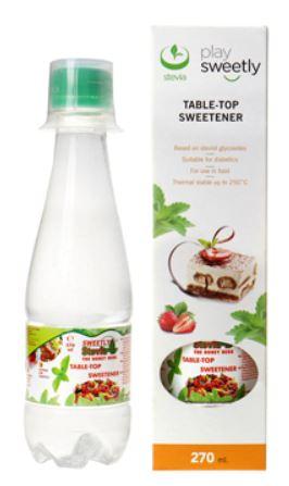 Indulcitor lichid cu extract de stevia, 270ml, Sweetly