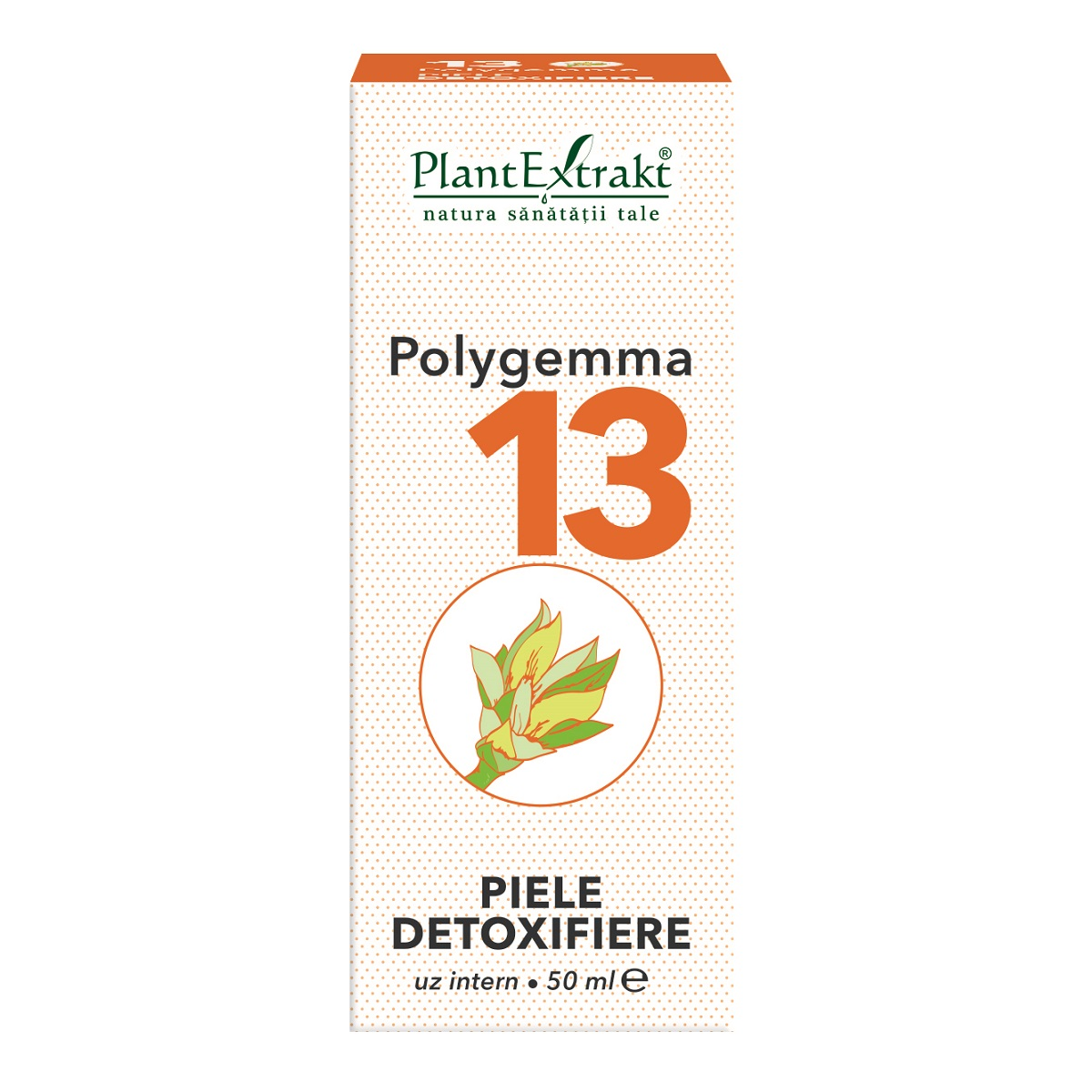 Polygemma 13 Piele detoxifiere, 50ml, Plant Extrakt drmax.ro