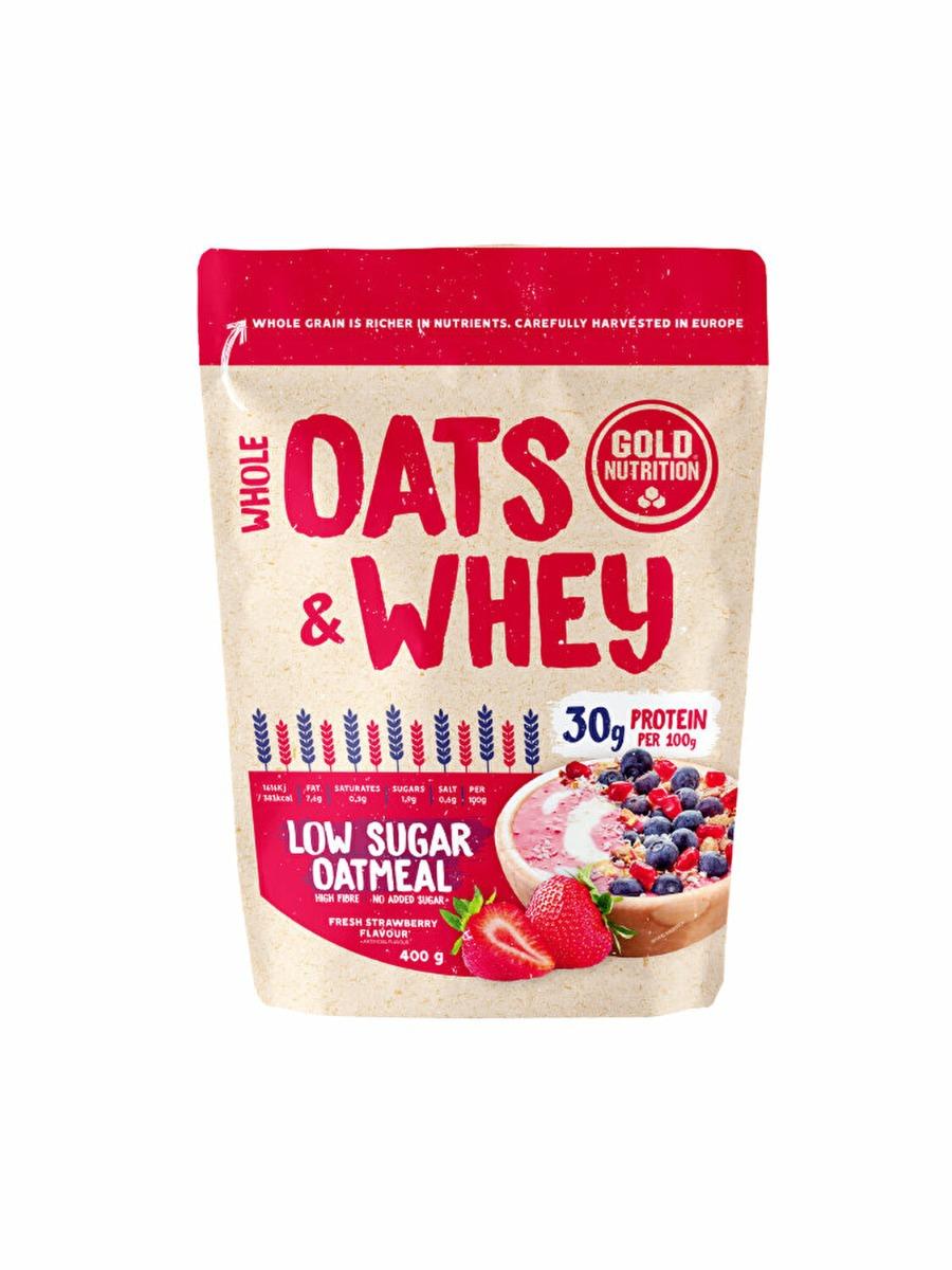Oats&Whey cu capsuni, 400g, Gold Nutrition