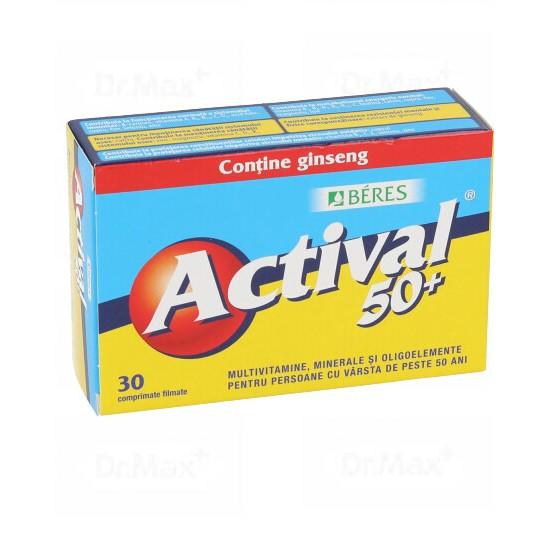 Actival 50+, 30 comprimate, Beres drmax.ro