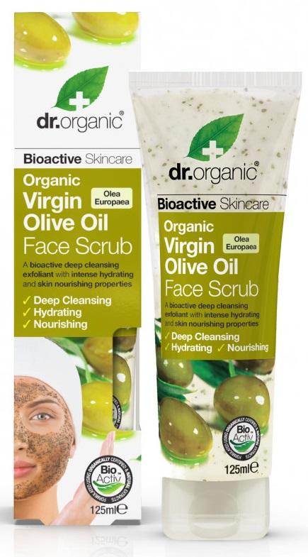Dr Organic Ulei Masline Scrub Fata 125ml drmax poza