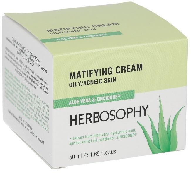 Herbosophy, Crema matifianta pentru ten gras, 50ml