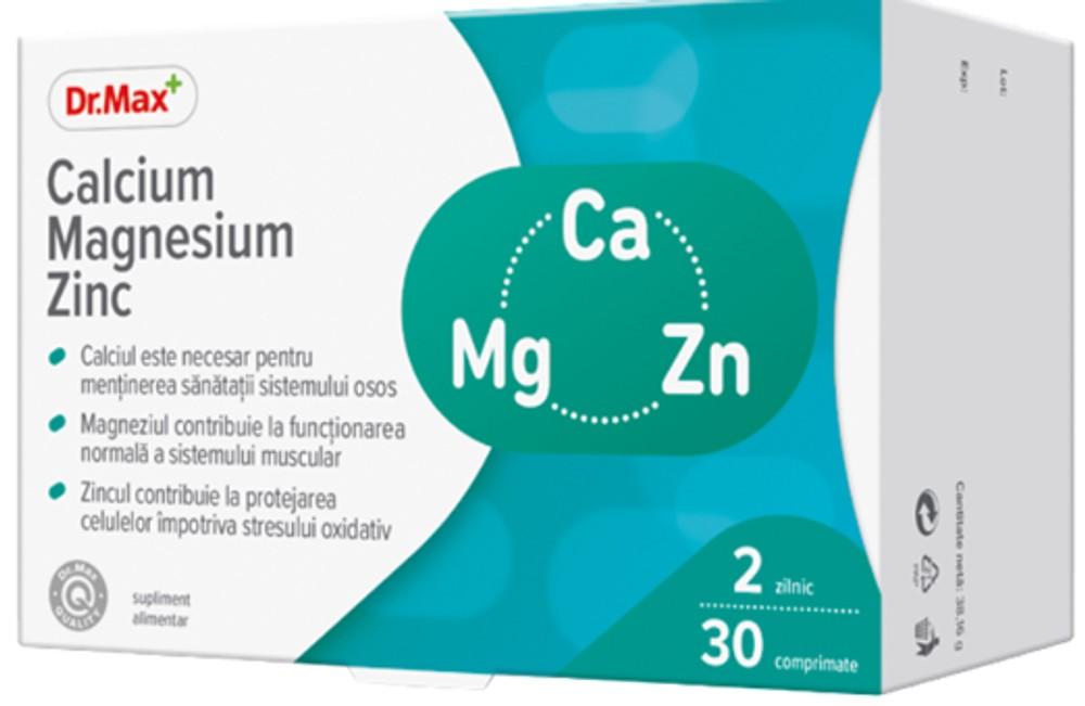 Dr.Max Calciu magneziu zinc, 30 comprimate drmax poza