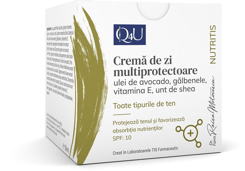 Crema de zi multiprotectoare Q4U, 50ml, Tis Farmaceutic drmax.ro