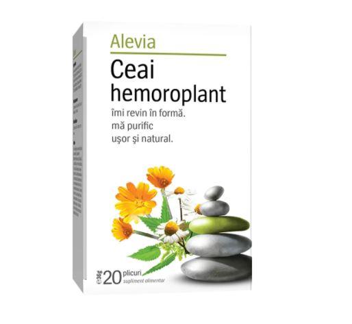 Ceai hemoroplant, 20 plicuri, Alevia drmax.ro