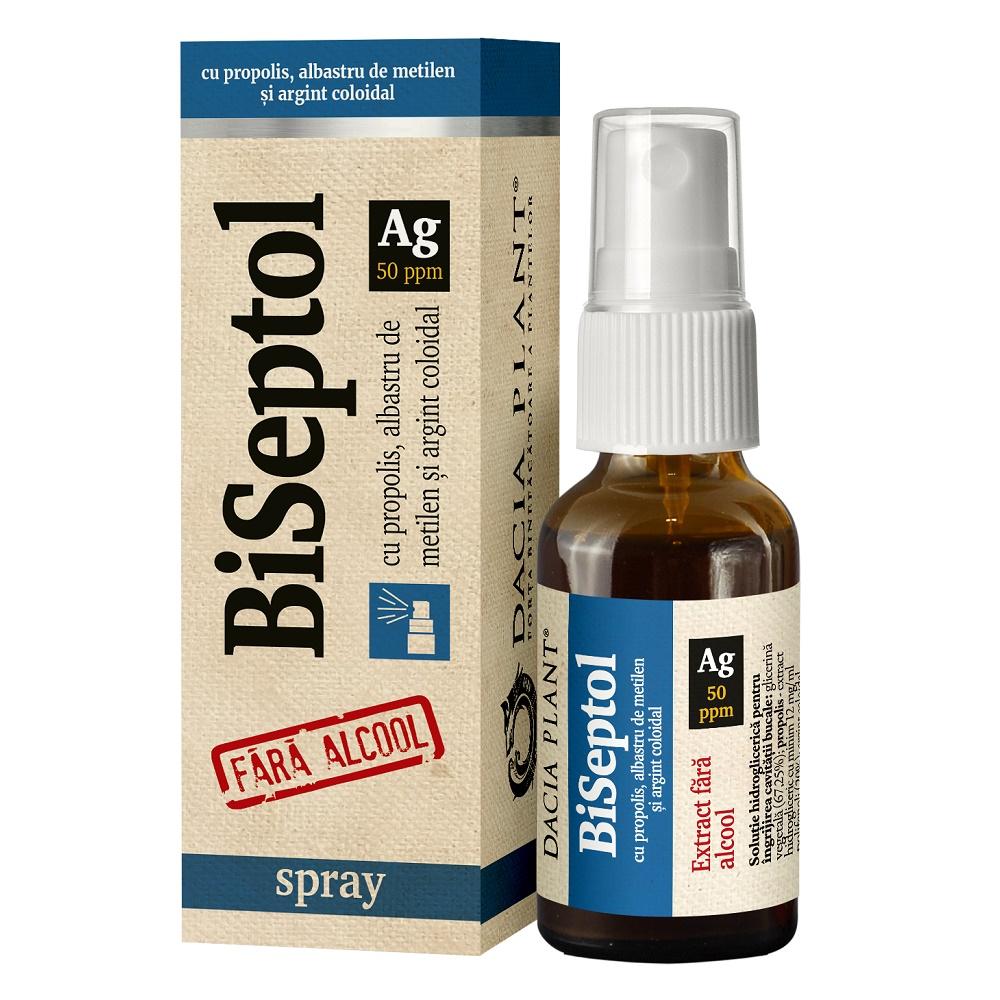 Biseptol Spray cu argint coloidal, 20ml, Dacia Plant drmax.ro