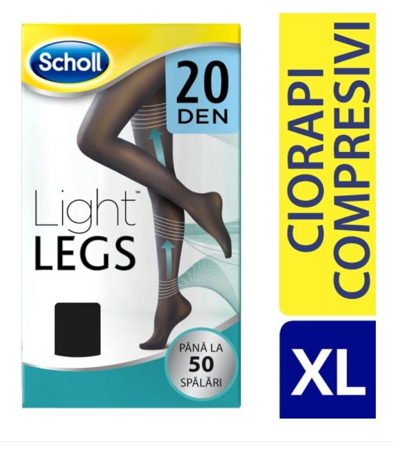 Ciorapi compresivi Light Legs 20 DEN Negru XL, 1 set, Scholl imagine produs 2021