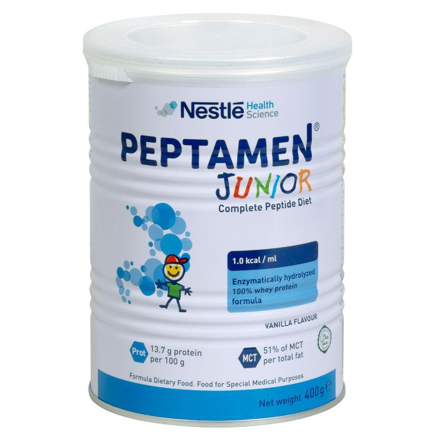 Lapte praf Peptamen Junior, incepand de la 12 luni, 400 g, Nestle drmax.ro