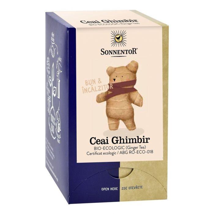 Ceai Bio Ghimbir, 18 plicuri, Sonnentor drmax.ro