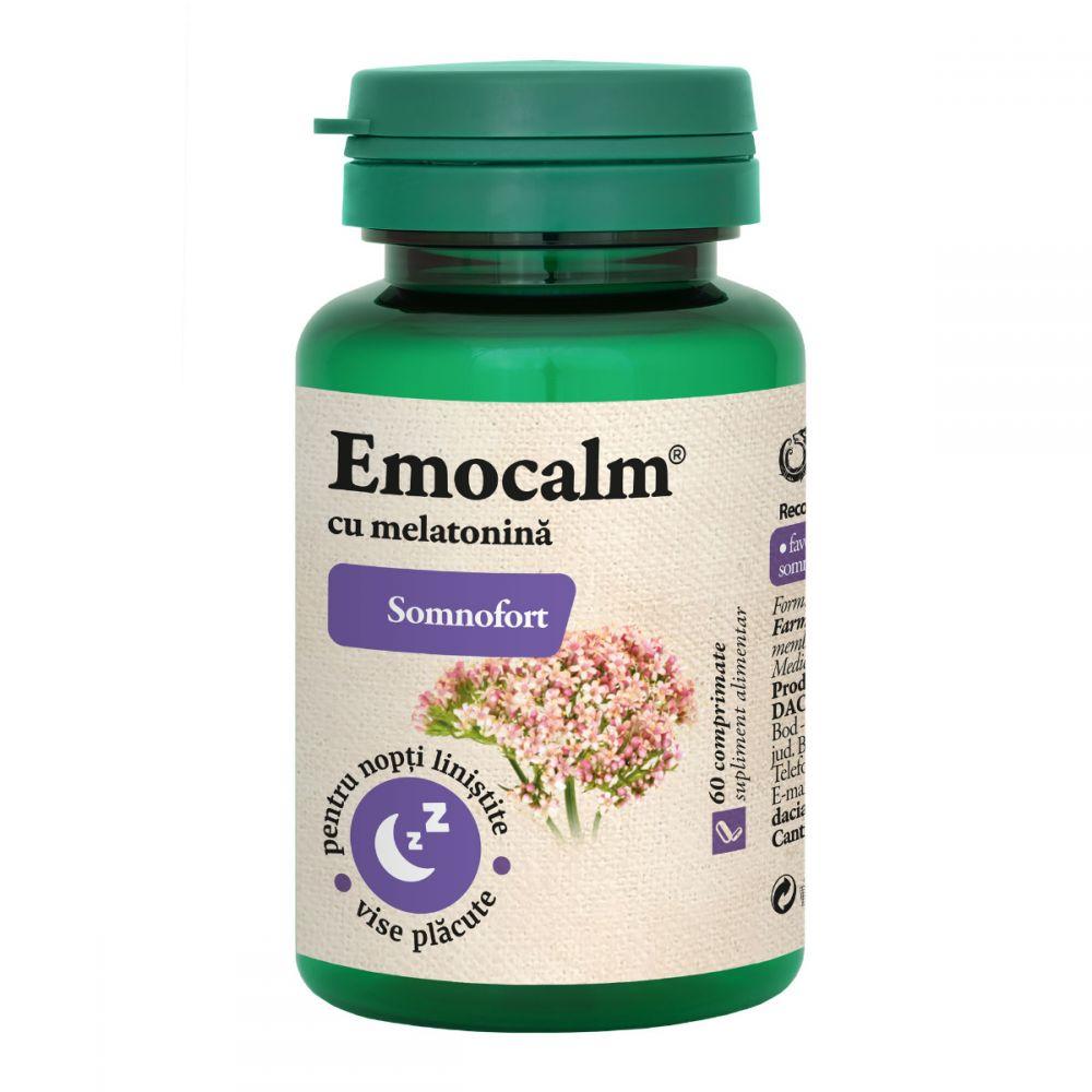 Emocalm cu melatonina, 60 comprimate, Dacia Plant drmax.ro