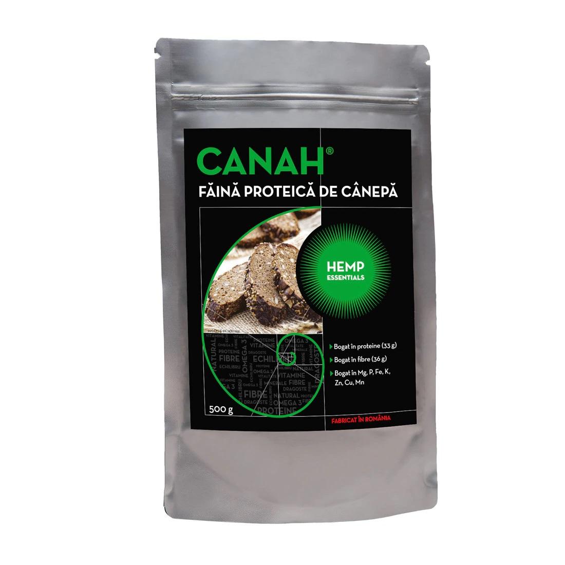 Faina proteica de canepa, 500g, Canah drmax.ro