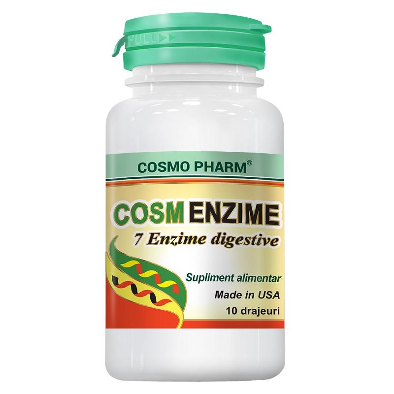 Cosm Enzime, 10 drajeuri, Cosmopharm imagine produs 2021