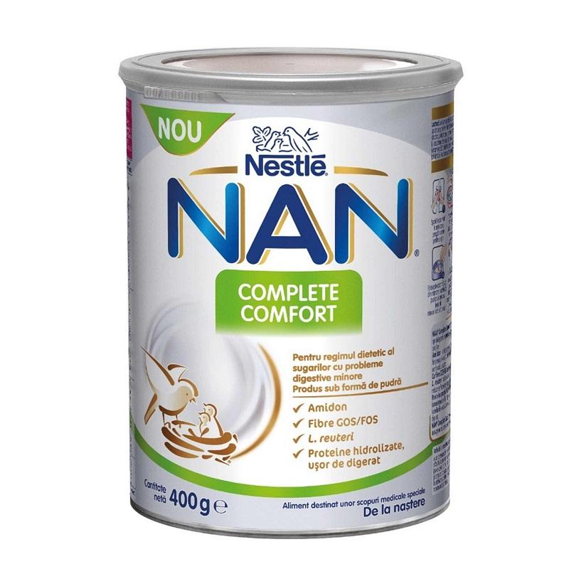 Nan Complete Confort Formula de lapte +0 luni, 400g, Nestle drmax.ro