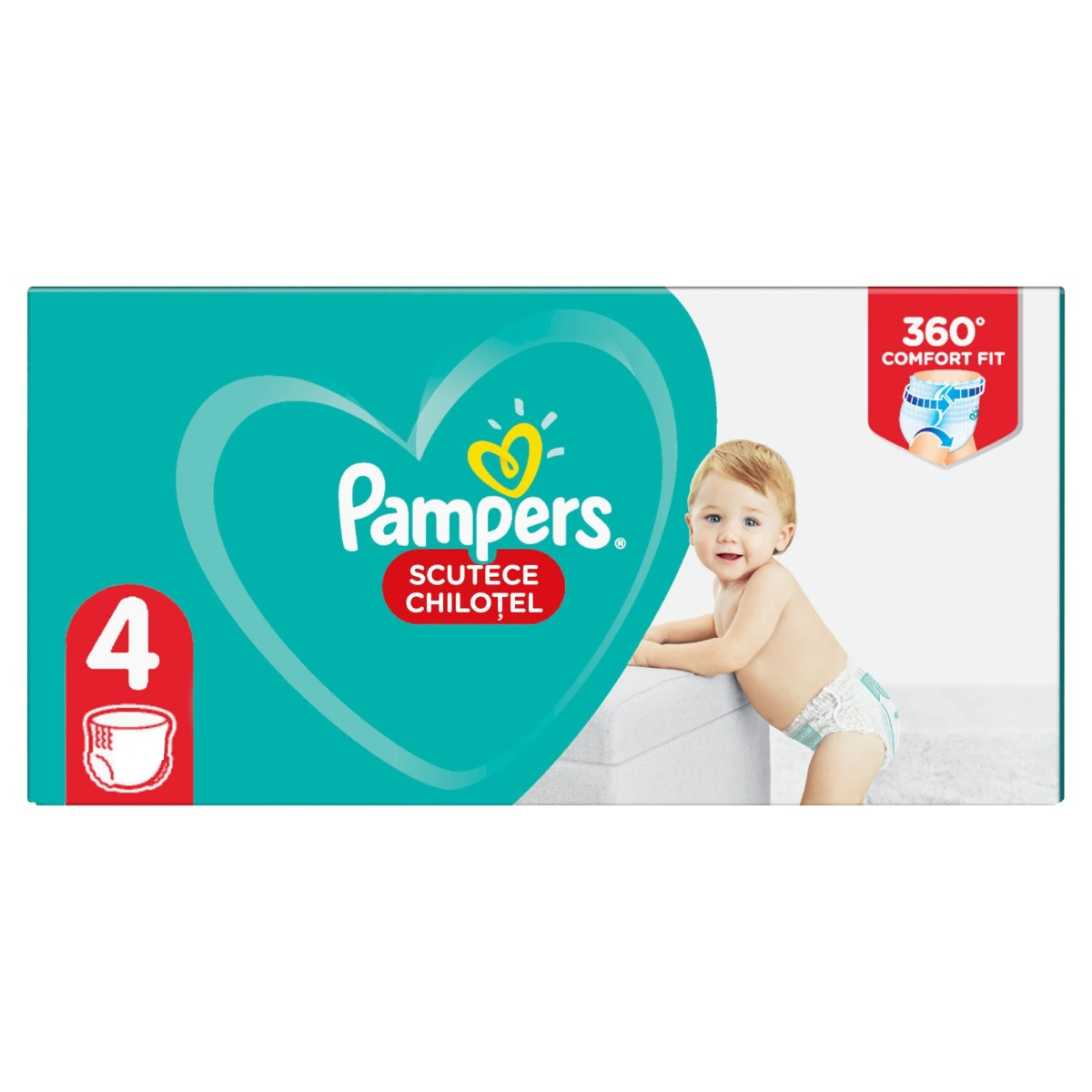 Scutece-chilotel Pants Jumbo Pack marimea 4 pentru 9-15kg, 52 bucati, Pampers drmax.ro