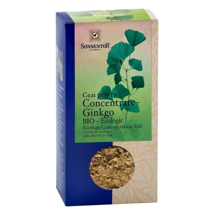 Ceai Bio Ceai pentru Concentrare - Ginkgo, 50g, Sonnentor drmax.ro