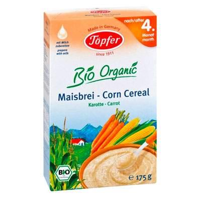 Cereale Bio cu porumb si morcov, de la 4 luni, 175g, Topfer drmax.ro