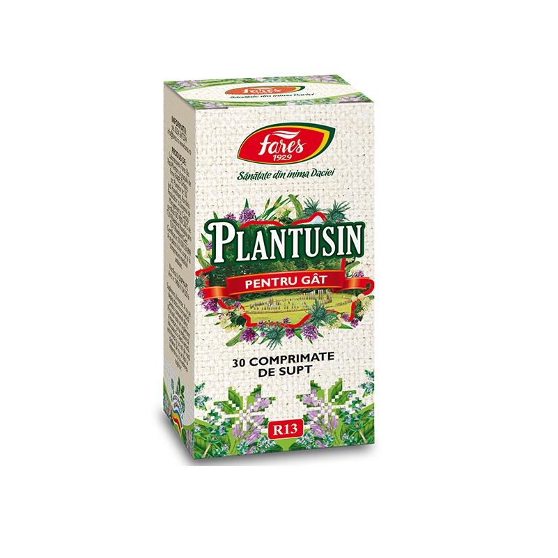 Plantusin pentru gat, 30 comprimate de supt, Fares drmax.ro