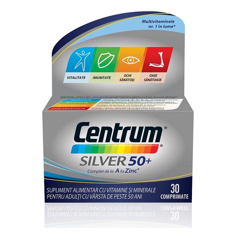 Centrum de la A la Z Silver 50+, 30 comprimate, Pfizer drmax.ro