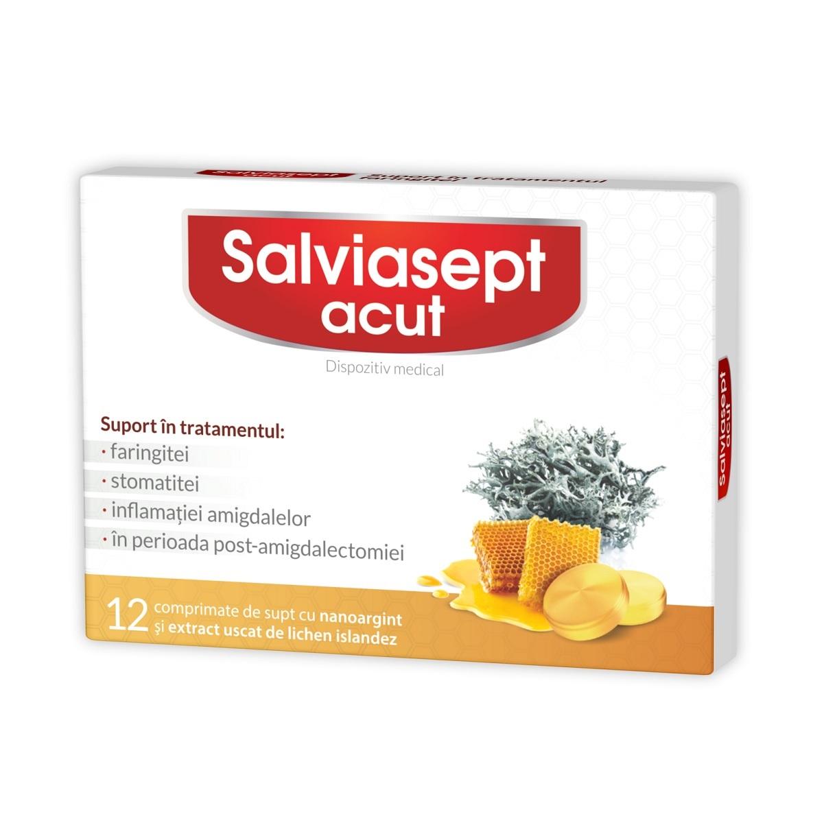 Salviasept Acut, 12 comprimate, Zdrovit imagine produs 2021
