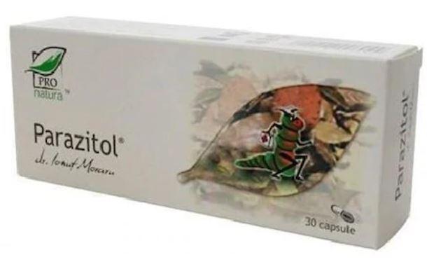 Parazitol, 30 capsule, Medica imagine produs 2021