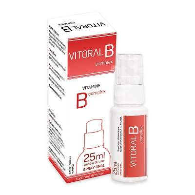 Spray Oral pentru adulti Vitoral B Complex, 25ml, Vitalogic imagine produs 2021