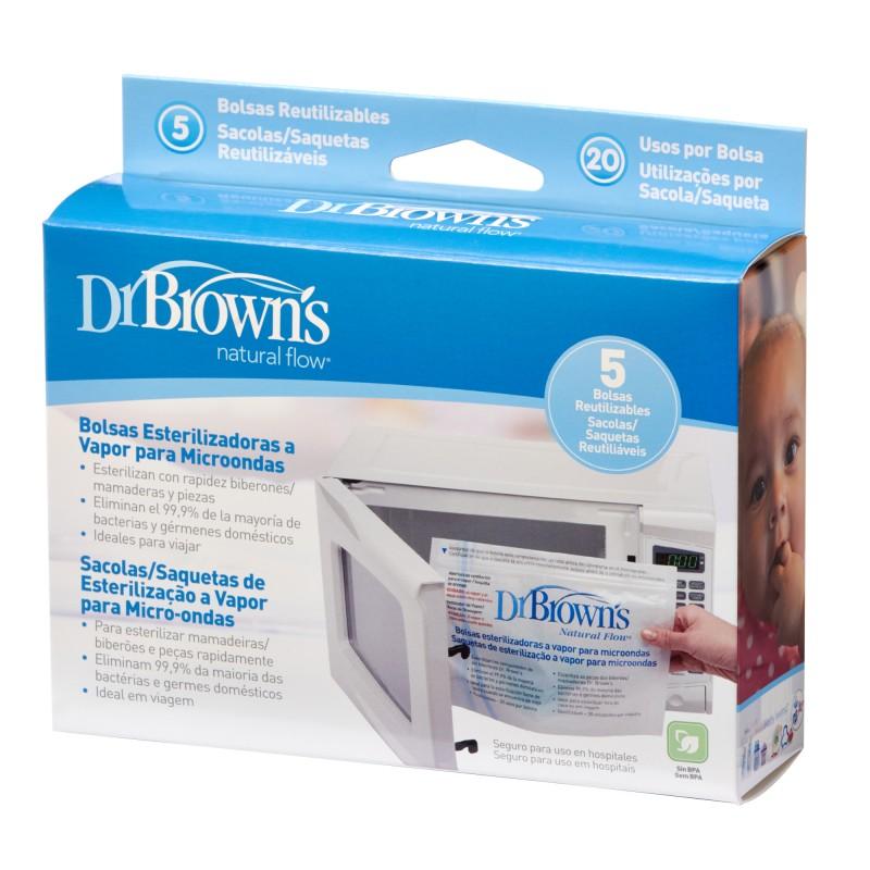 Pungi pentru sterilizat in cuptorul cu microunde, 5 bucati x 180ml, Dr. Brown's drmax.ro