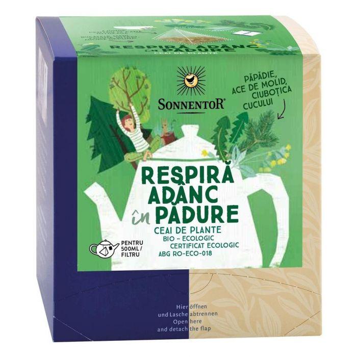 Ceai Bio Premium Respira Adanc in Padure, 12 plicuri, Sonnentor drmax.ro