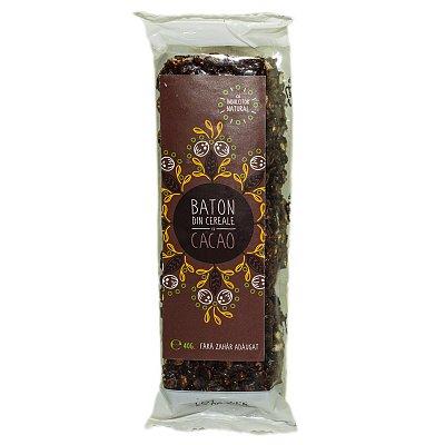 Baton cacao cu indulcitor natural (Stevie si Erytritol), 40g, Sweeteria drmax poza