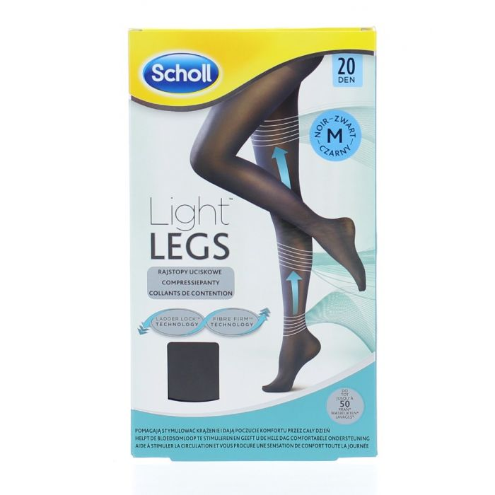 Ciorapi compresivi Light Legs 20 DEN Black, marime M, Scholl imagine produs 2021