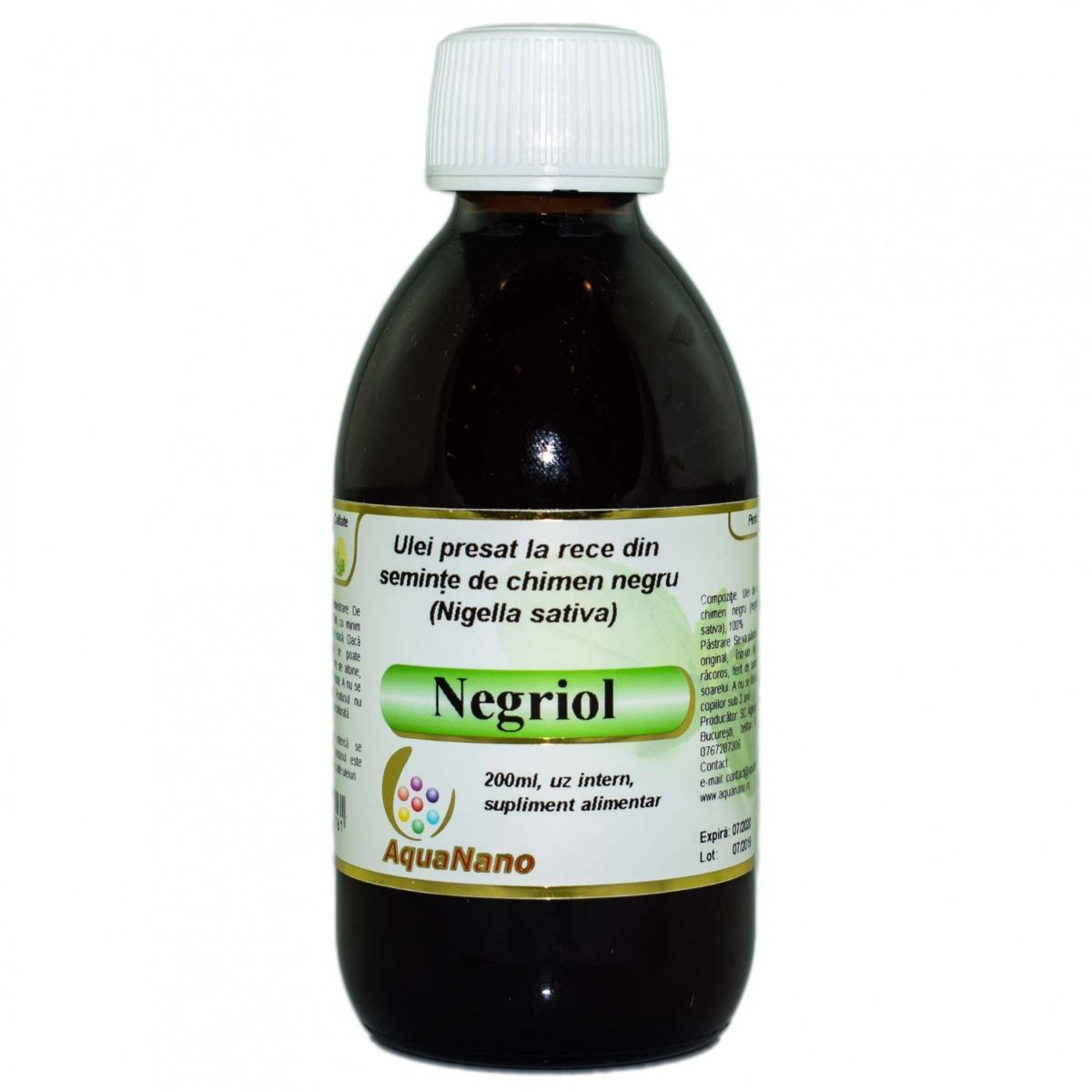 Negriol - Ulei de negrilica presat la rece, 200ml, Aghoras drmax.ro