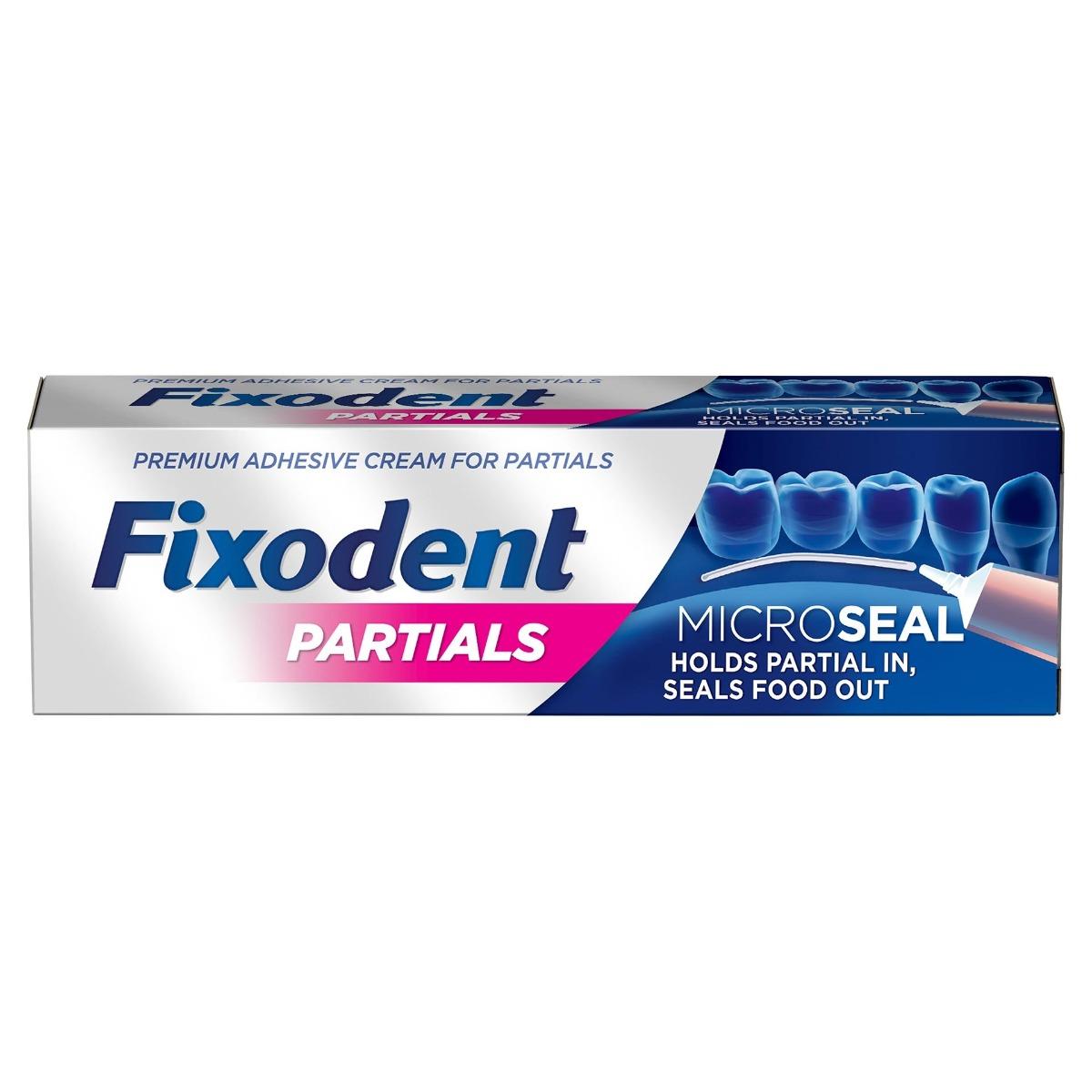 Crema adeziva pentru proteza dentara Partials, 40g, Fixodent imagine produs 2021