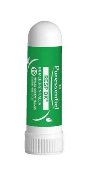Inhalator nazal Respiratory Bio cu 19 uleiuri esentiale, 1ml, Puressentiel imagine produs 2021